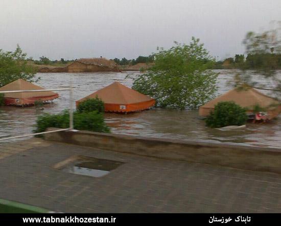 گزارش تصویری/ طغیان رودخانه دز دزفول
